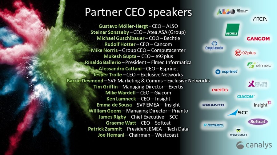 Partner CEO speakers Canalys Forums 2020