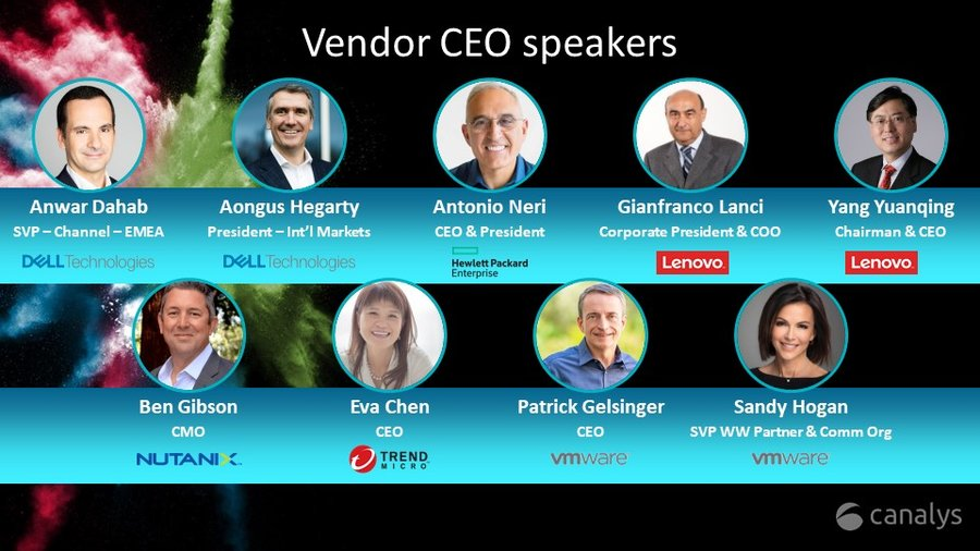 CEO speakers at Canalys Forums